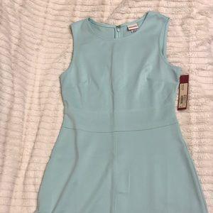 Mint green sheath dress